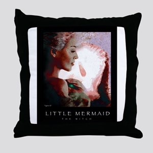 Little Mermaid - The Witch Throw Pillow