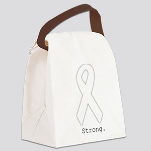 Pearl White. Strong. Canvas Lunch Bag
