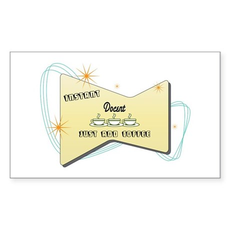 Instant Docent Rectangle Sticker