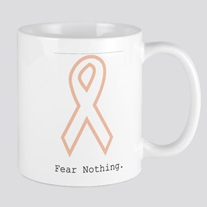 Peach Outline. Fear Nothing Mugs