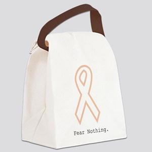 Peach Outline. Fear Nothing Canvas Lunch Bag