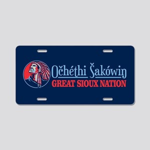 Great Sioux Nation Aluminum License Plate
