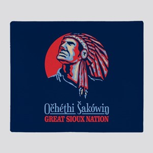 Great Sioux Nation Throw Blanket
