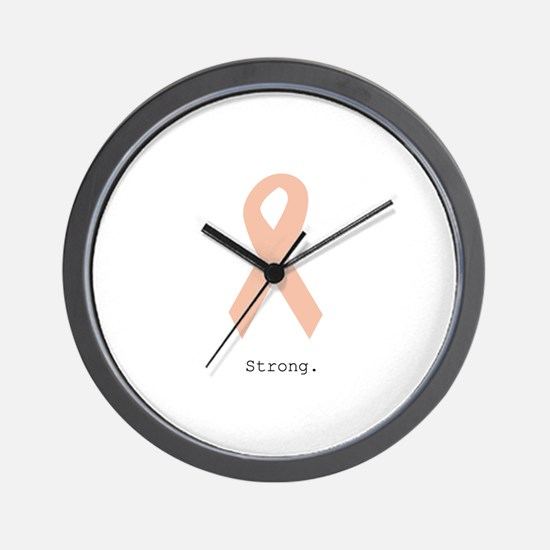 Peach. Strong Wall Clock