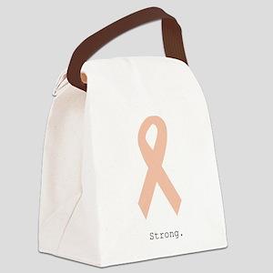 Peach. Strong Canvas Lunch Bag