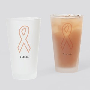 Peach Outline. Strong Drinking Glass