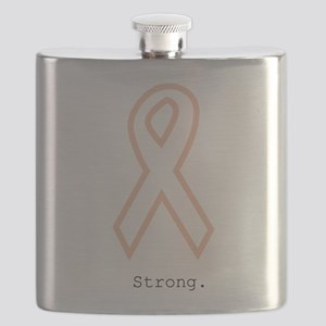 Peach Outline. Strong Flask