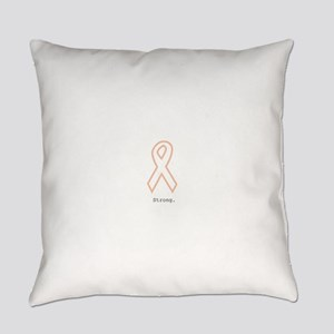 Peach Outline. Strong Everyday Pillow