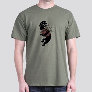 Kokopelli Bagpipes Dark T-Shirt