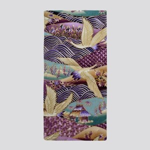 Flying Crane Fabric Beach Towel