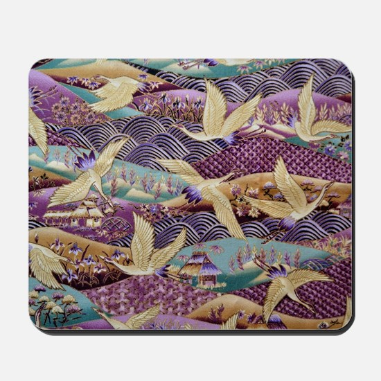Flying Crane Fabric Mousepad