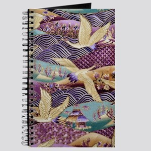 Flying Crane Fabric Journal
