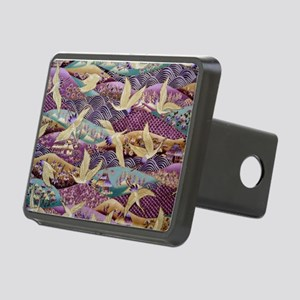 Flying Crane Fabric Rectangular Hitch Cover