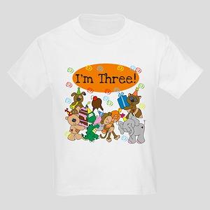 Party Animals 3rd Birthday Kids Light T-Shirt