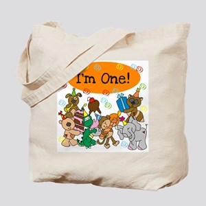 Party Animals 1st Birthday Tote Bag