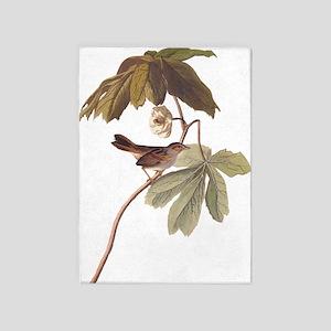 Swamp Sparrow Vintage Audubon Art 5'x7'Area Rug