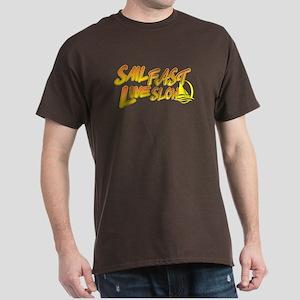 Sail Fast Live Slow sailing yellow Dark T-Shirt