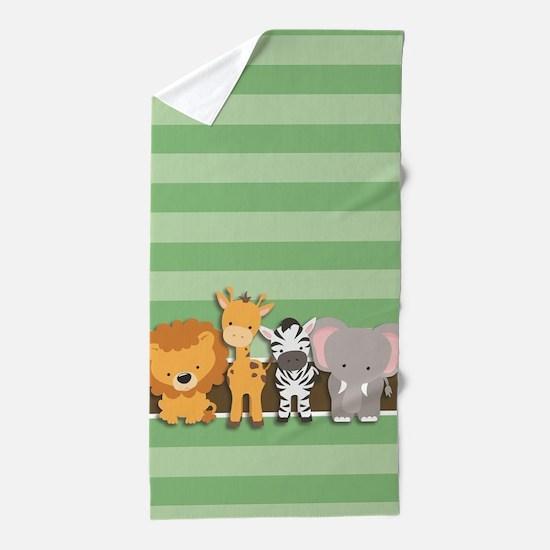 Safari Animals Beach Towel