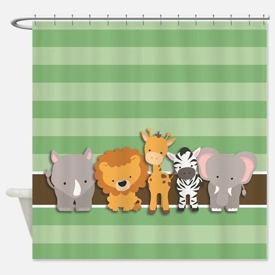 Safari Animals Shower Curtain