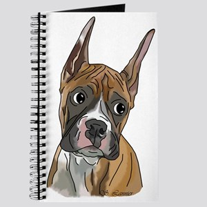 Perky Boxer Dog Portrait Journal