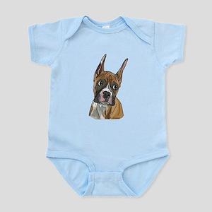 Perky Boxer Dog Portrait Body Suit