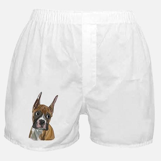 Perky Boxer Dog Portrait Boxer Shorts