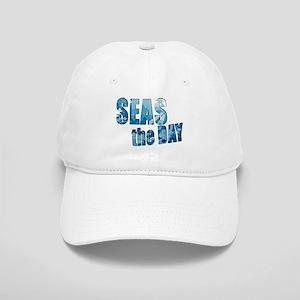 Seas the day boating sailing Cap