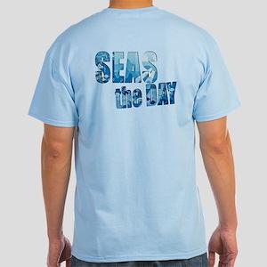 Seas The Day Boating Sailing Light T-Shirt