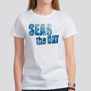 Seas the day boating Women's Classic White T-Shirt