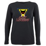 Cat Lazers Plus Size Long Sleeve Tee