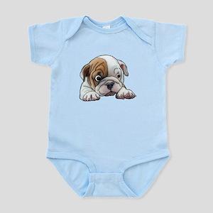 Bulldog Puppy Art Portrait Body Suit