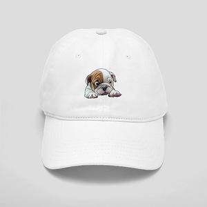Bulldog Puppy Art Portrait Baseball Cap