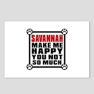 Savannah Cat Make Me Happ Postcards (Package of 8)