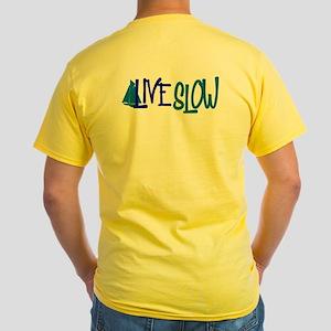 Sail Fast Live Slow Sailing Yellow T-Shirt