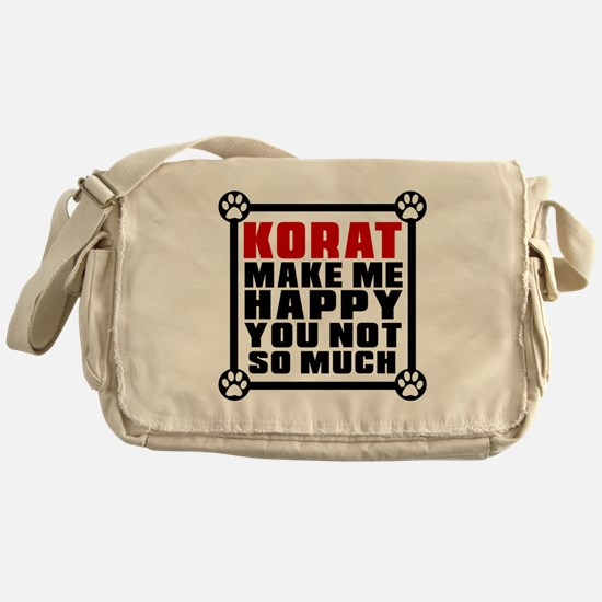 Korat Cat Make Me Happy Messenger Bag