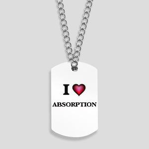 I Love Absorption Dog Tags