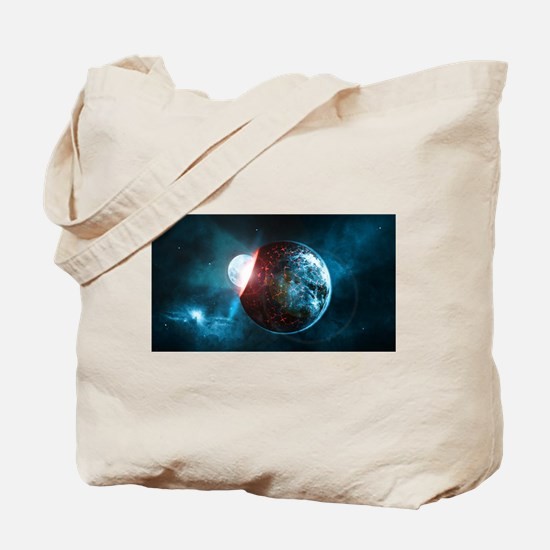 Moon into a Planet Tote Bag