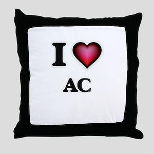 I Love Ac Throw Pillow