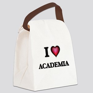 I Love Academia Canvas Lunch Bag