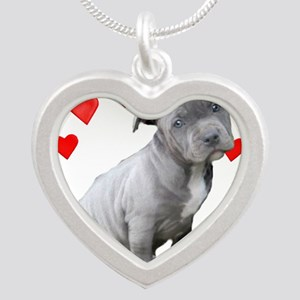 Valentine's Pitbull Puppy Necklaces