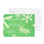 'stuff to do in winter' christmas cards (10 pack)