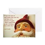 'blame santa claus' christmas cards (10 pack)