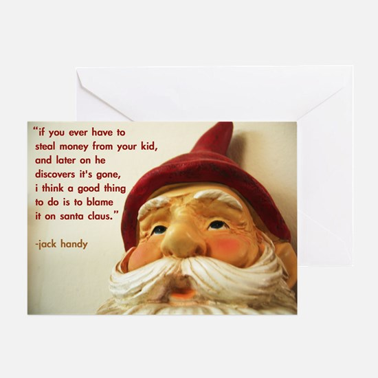 'blame santa claus' christmas card