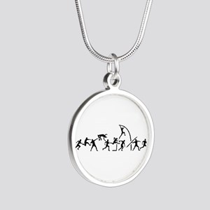 Decathlon Silver Round Necklace