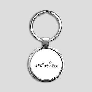 Decathlon Round Keychain