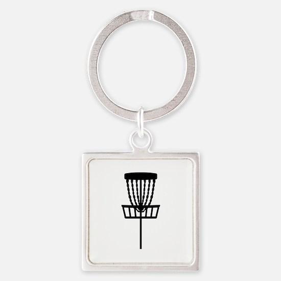 Disc golf Square Keychain