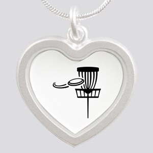 Disc golf Silver Heart Necklace