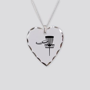 Disc golf Necklace Heart Charm