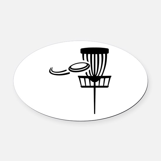 Disc golf Oval Car Magnet