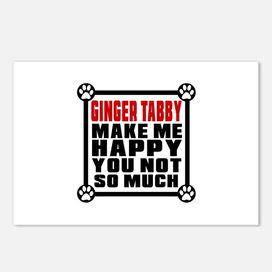 Ginger tabby Cat Make Me Postcards (Package of 8)